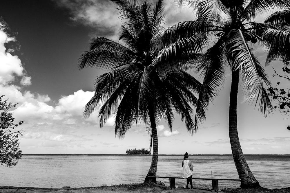 Looking at a motu on Raiatea, French Polynesia