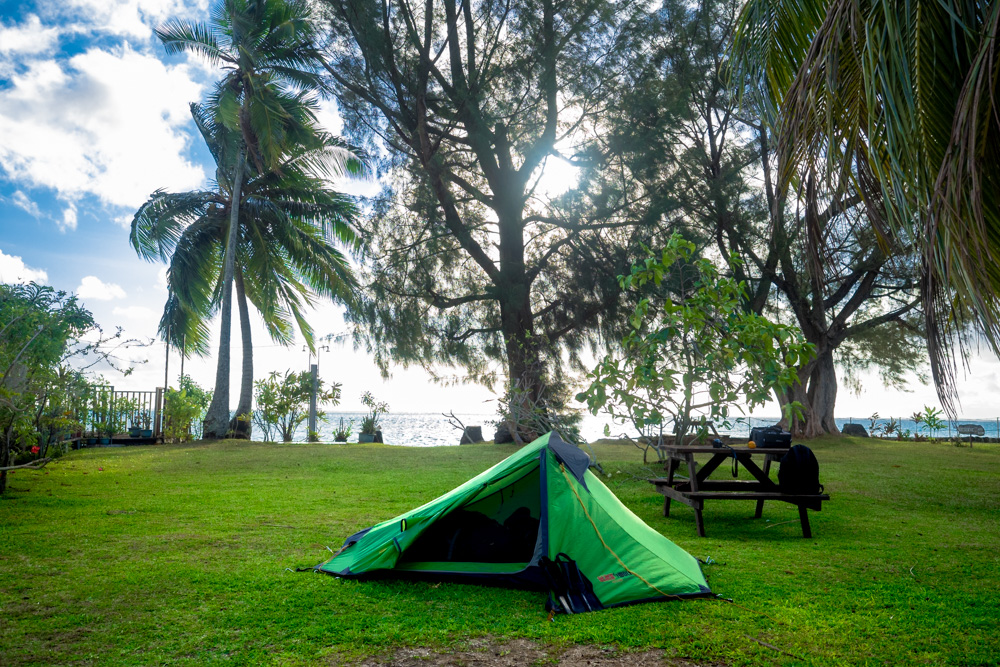 Camping on Moorea, French Polynesia