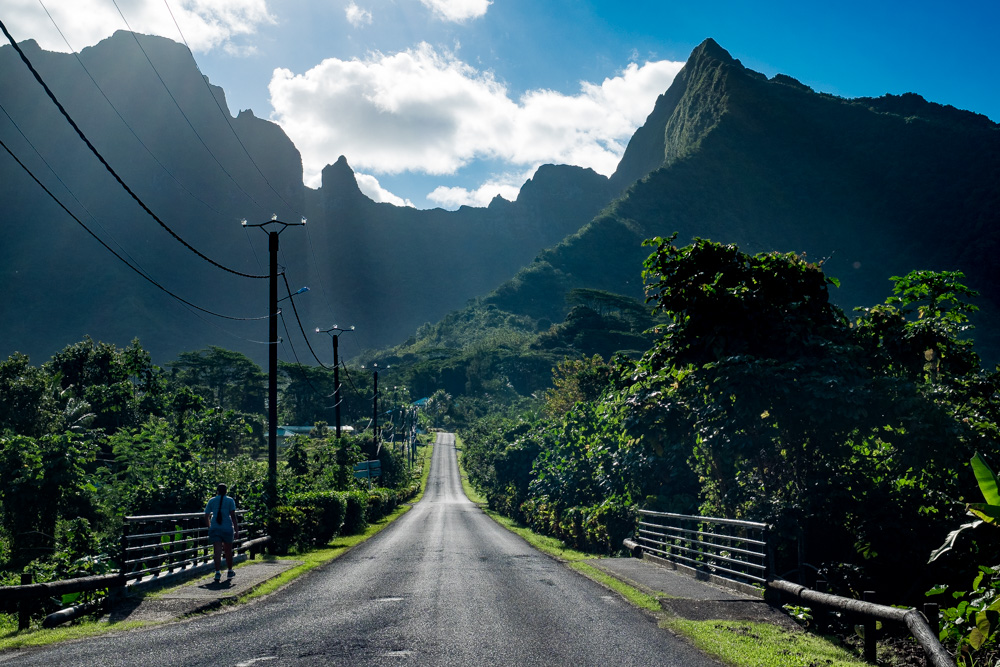 Exploring Raiatea by car, French Polynesia.
