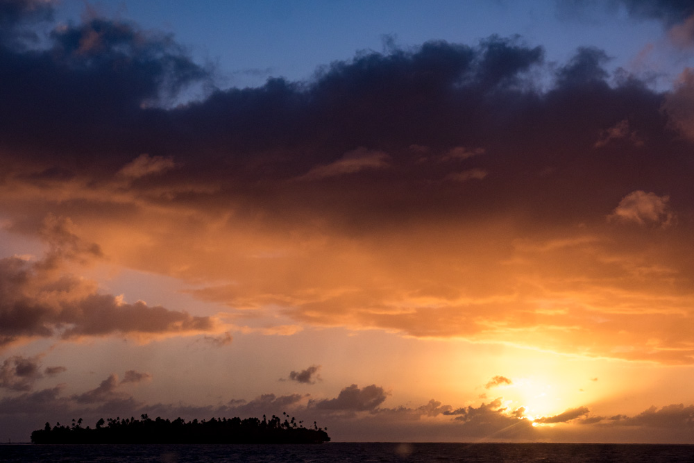 Sunset on Raiatea, French Polynesia