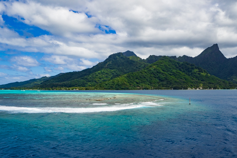 Leaving Moorea on the ferry, French Polynesia