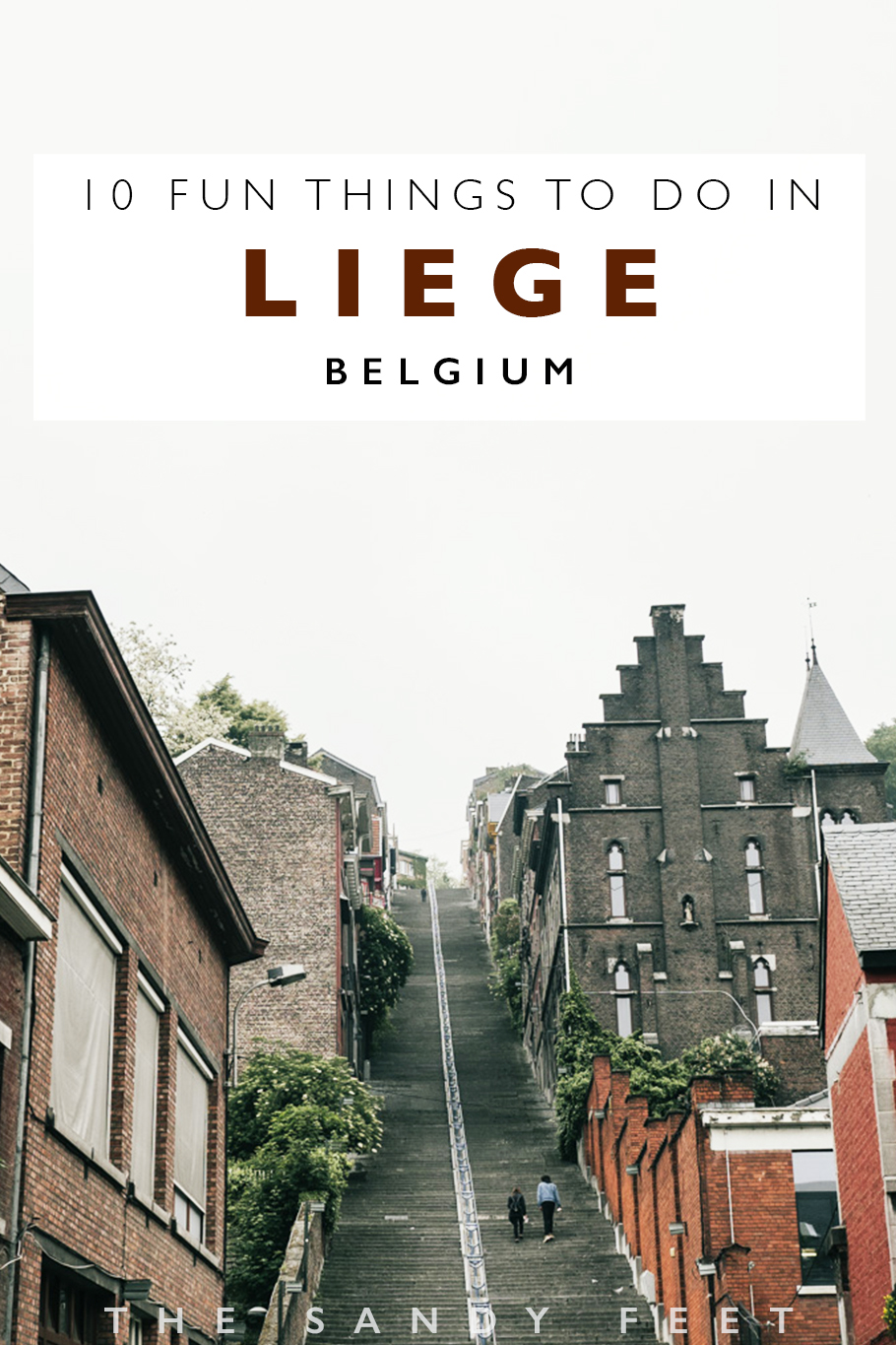 Visiting Belgium's thriving eastern hub of Liege? These are 10 Fun Things To Do In Liege, Belgium including climbing the mammoth staircase of Montagne de Bueren, trying some of the cities specialities including Liege Waffles and Boulettes a la Liegeoise, Taking a day trip to the High Fens Nature Reserve, cycling through the countryside of Herve and tasting the regions local produce and having a drink in Belgium's coolest pub, Le Pot Au Lait.