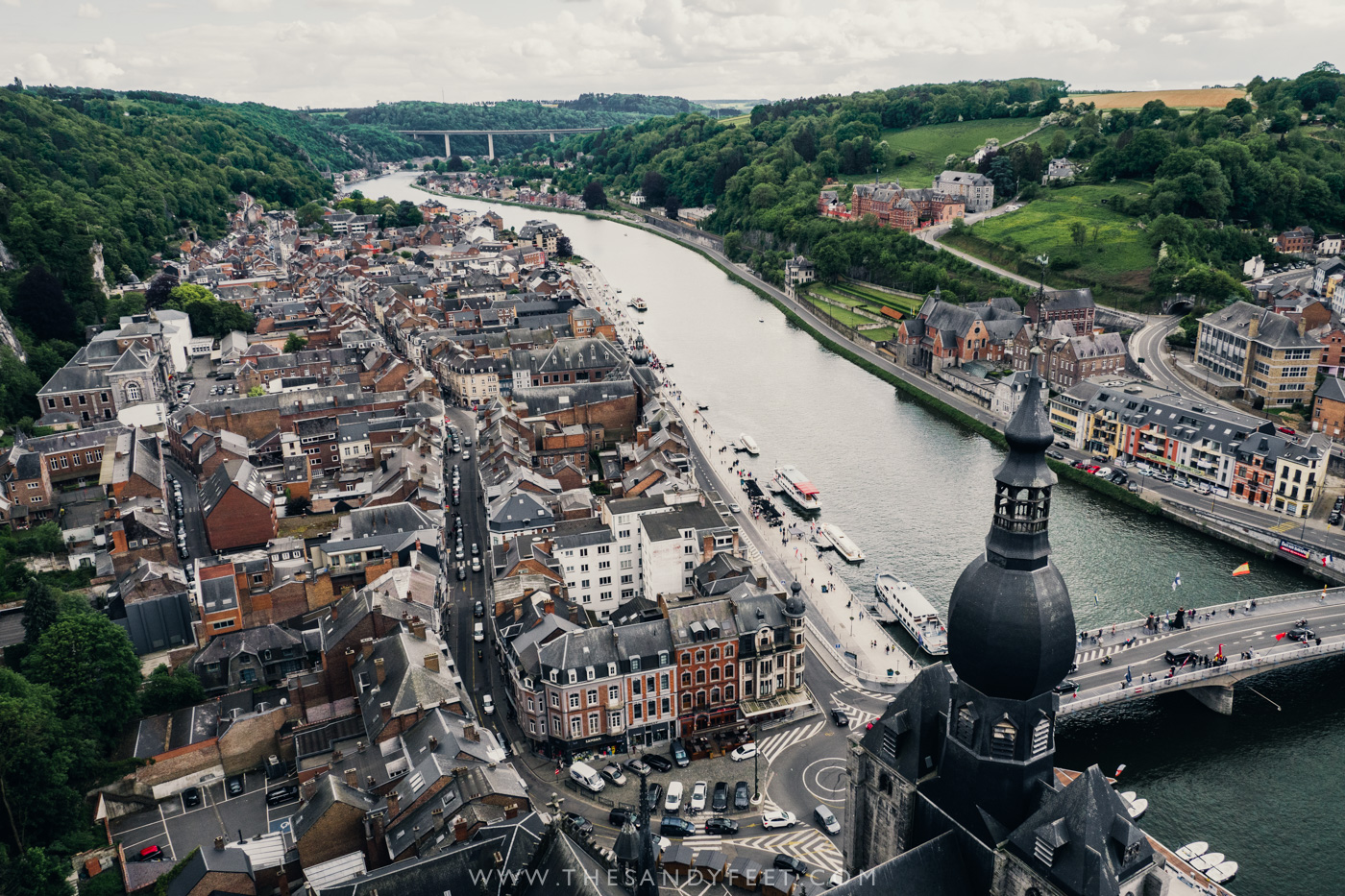 Take in the views from Dinant Citadel | A perfect weekend itinerary in the Namur region and one of the best things to do in Namur and Belgium's Wallonia Region.