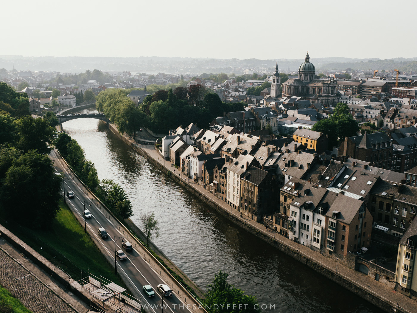 Take in the sunset from the Namur Citadel | A perfect weekend itinerary in the Namur region and one of the best things to do in Namur and Belgium's Wallonia Region